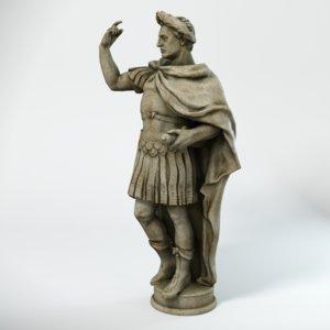 3d model statue caesar
