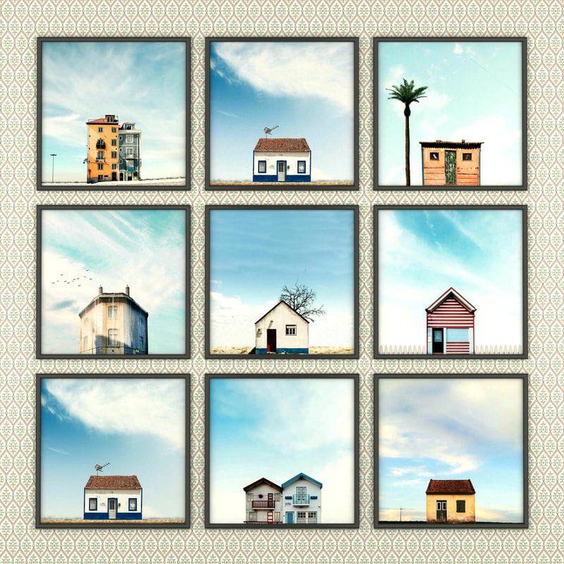 3d fbx set photos portuguese houses