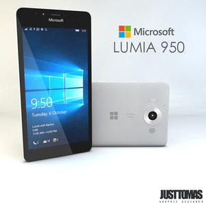 3d model microsoft lumia 950