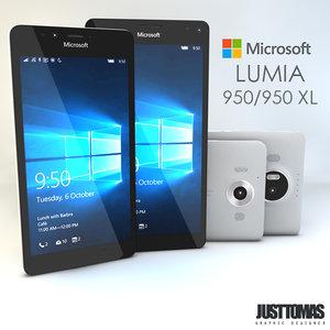 3d obj microsoft lumia 950-950 xl