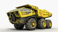dump heavy-load truck sci-fi