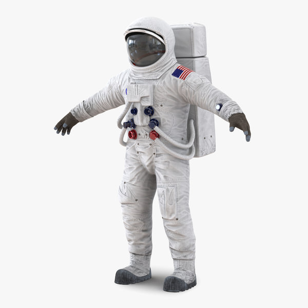 a7l apollo skylab spacesuit 3d model