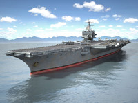 carrier uss enterprise 3d max