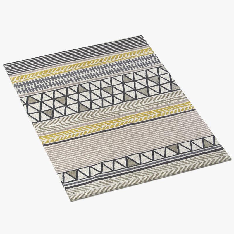 scion rug raita taupe 3d model