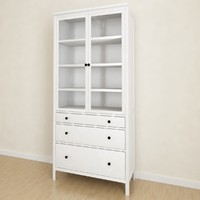 Hemnes Glass-door cabinet with 3 drawers