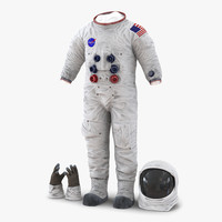3d model a7l apollo skylab spacesuit