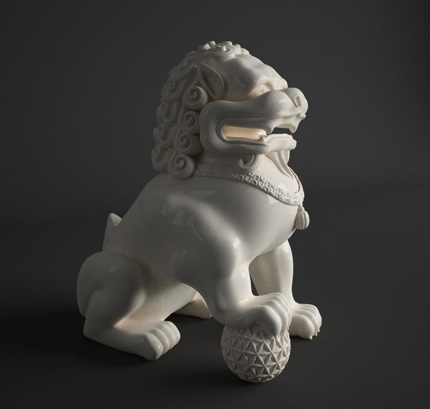 3d model foo dog