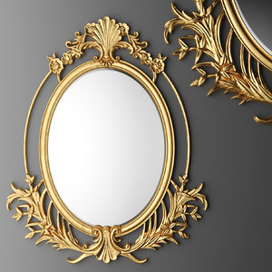 baroque oval frame 3d max