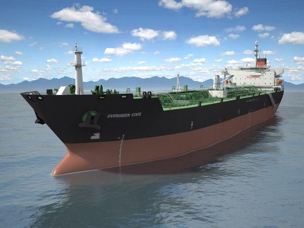3d ship tanker l model