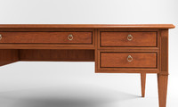 Classical Desk & Table 3d Model
