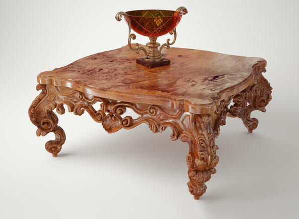 max table vase baroque
