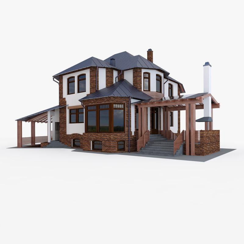 3d model privat house