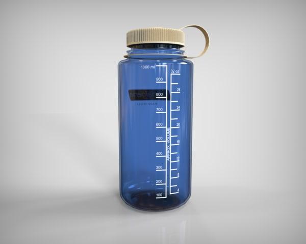 3d water bottle model