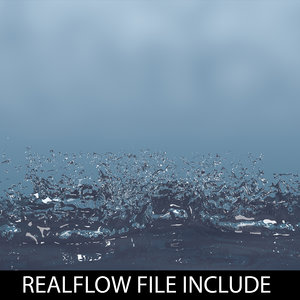 droplet realflow flow 3d model