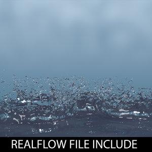 droplet realflow flow 3d model