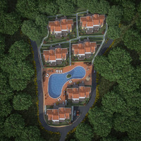 residential complex house 3d model