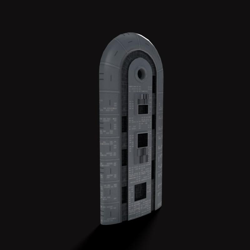 sci-fi building obj