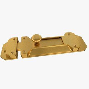 3d door latch model