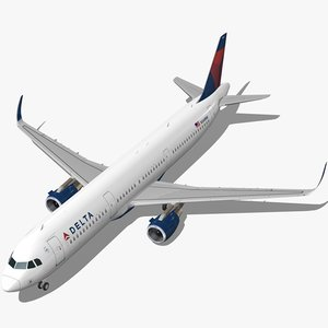 sharkleted a321neo delta air lines 3d model