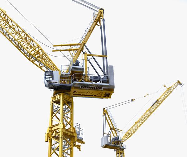 3d model tower crane liebherr 710
