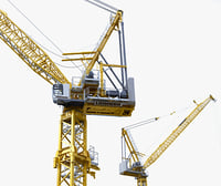 3d model tower crane liebherr 710