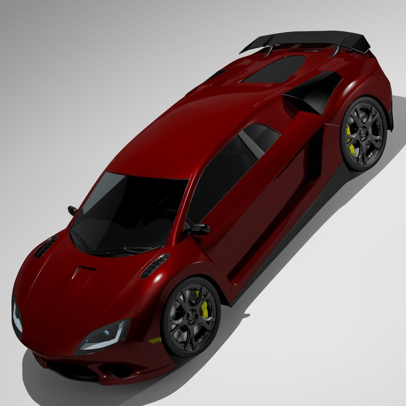 3d model concept car
