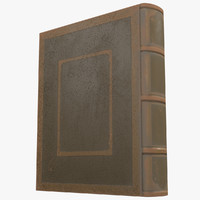 simple old book 3 3d model