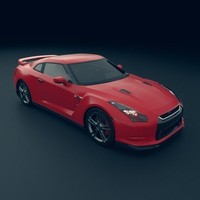 3d model red nissan skyline 35
