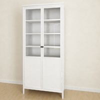 Hemnes Cabinet with panel glass door