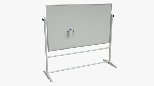 whiteboard dry erase 3d model