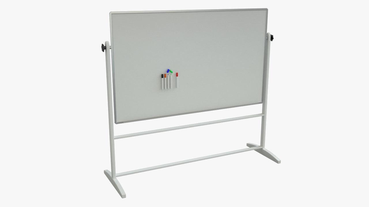 whiteboard dry erase 3d model