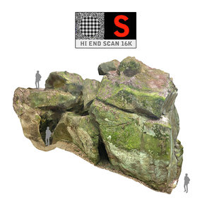 giant stone boulder 16k 3d model