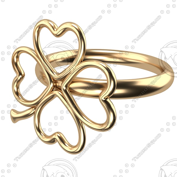 3d 3ds gold ring
