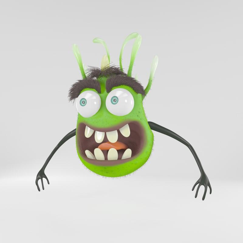 green monster 3d model