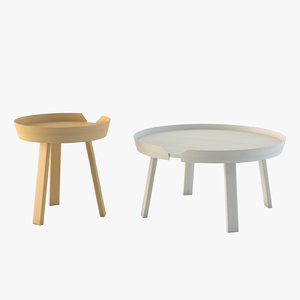 3d model of muuto table