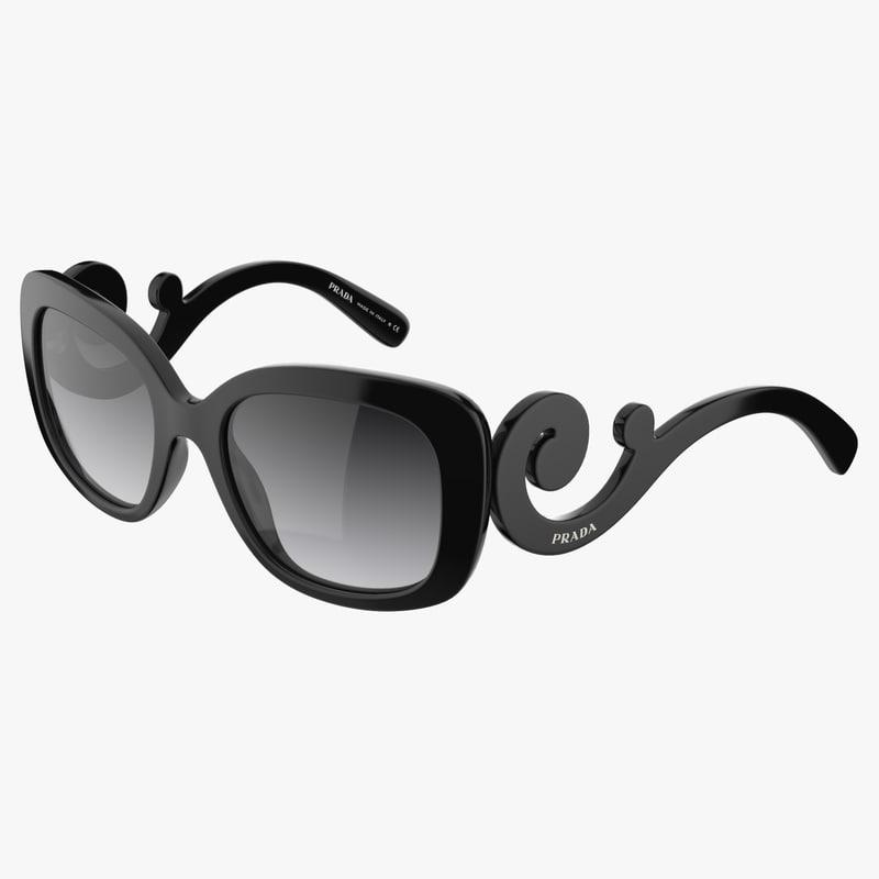 3d model stylish prada sunglasses