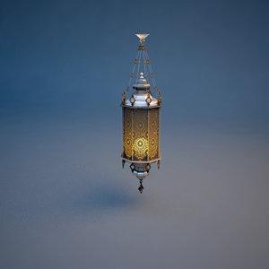 3d model oriental lamp