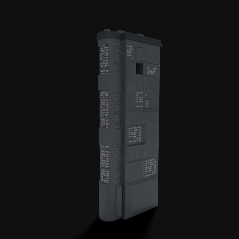 sci-fi building 3d obj