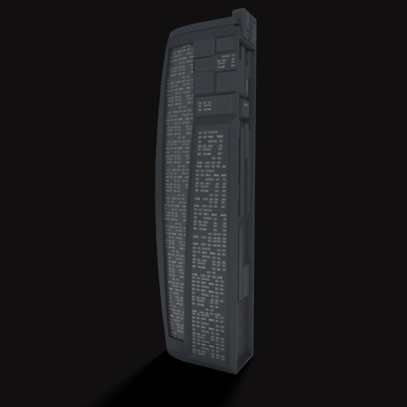 3d model of sci-fi building
