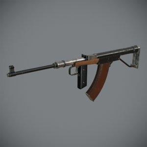 3d bullpup assault rifle