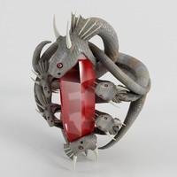 snake ring 3d model