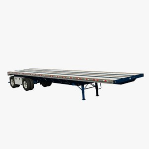 3d great dane 48ft flatbed model