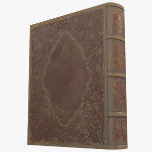 old book 3 3d model