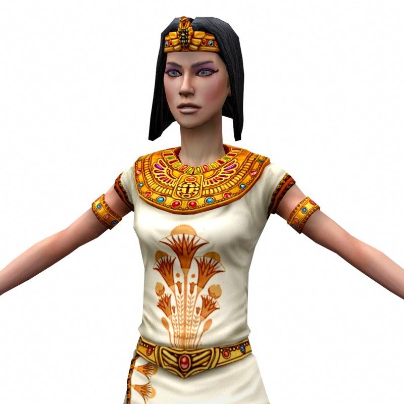 egyptian priestess 3d max
