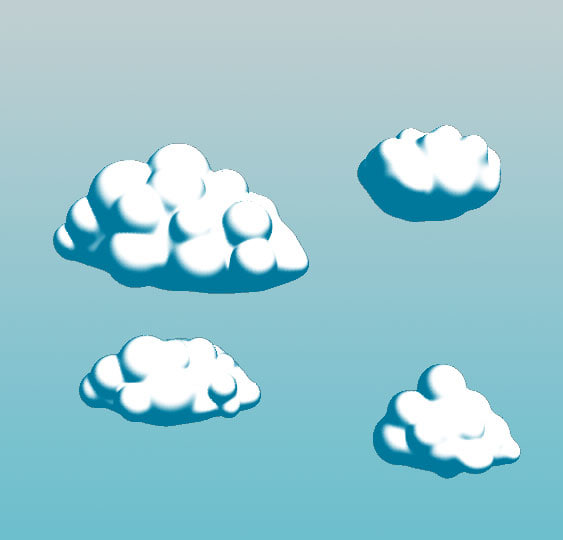 3d cartoon clouds