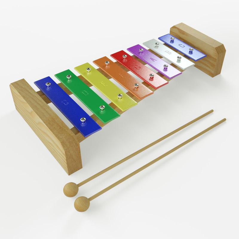 toy xylophone 3d c4d