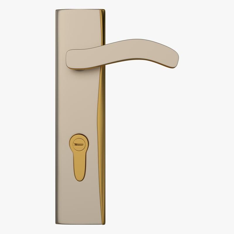 door lock 3d obj