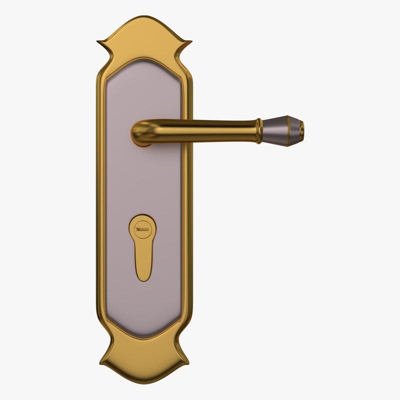 door lock 3d x