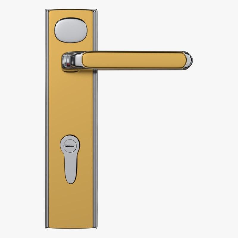 door lock 2 3d model