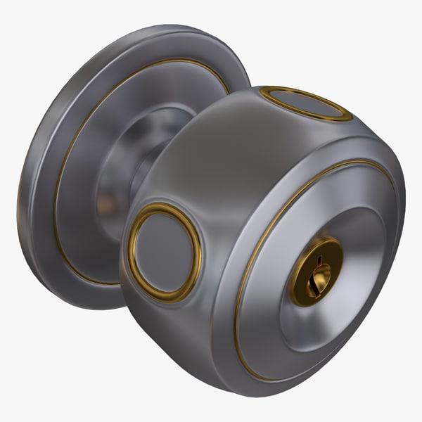 3d model door lock
